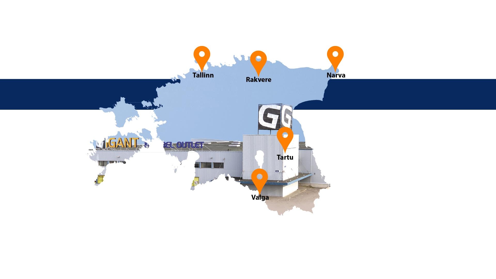 c32cc1874e2 Gigant has developed considerably over the years. In Estonia, we have  stores in five towns and cities – Tallinn, Narva, Tartu, Valga and Rakvere.
